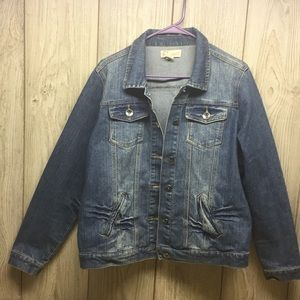 Like New Fabric Brand Jean Jacket